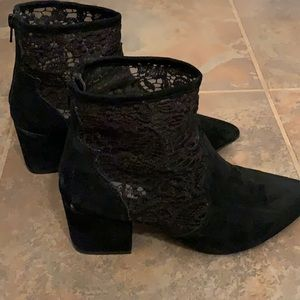 Steve Madden suede and lace bootie